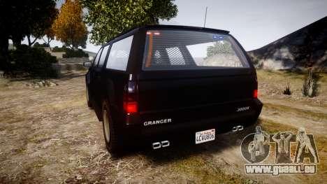 GTA V Declasse Granger Unmarked [ELS] Slicktop für GTA 4 hinten links Ansicht