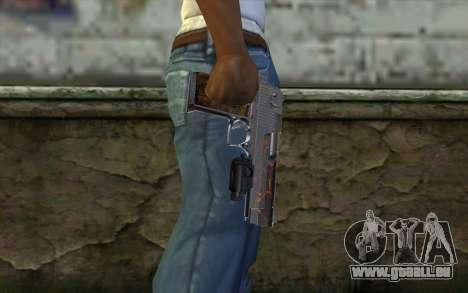 Silver Desert Eagle für GTA San Andreas dritten Screenshot