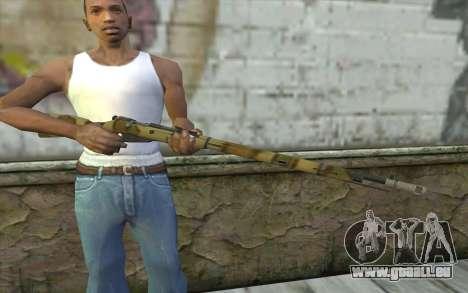 Mosin-v8 pour GTA San Andreas troisième écran