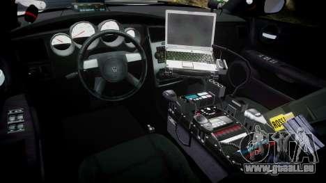 Dodge Charger 2010 PS Police [ELS] pour GTA 4 Vue arrière
