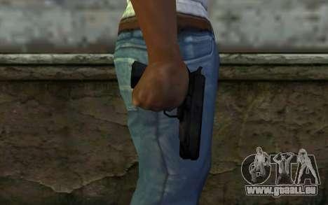 Pistol from Cutscene pour GTA San Andreas troisième écran