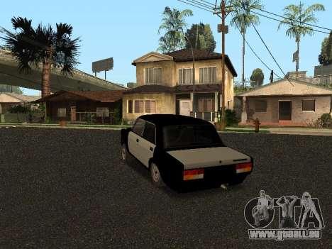 CES 2107 Hobo pour GTA San Andreas sur la vue arrière gauche