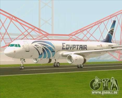 Airbus A321-200 EgyptAir pour GTA San Andreas sur la vue arrière gauche