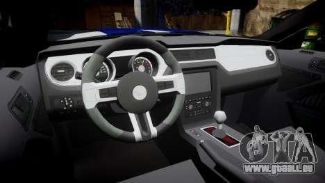 Ford Mustang GT 2014 Custom Kit PJ5 pour GTA 4 est une vue de l'intérieur