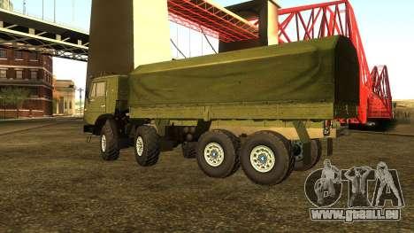 Die KamAZ-6350 für GTA San Andreas zurück linke Ansicht