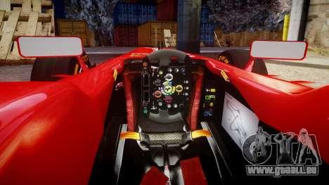 Ferrari F138 v2.0 [RIV] Alonso THD pour GTA 4 est une vue de l'intérieur