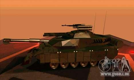 M1A1 Abrams Brawl (Transformers) pour GTA San Andreas sur la vue arrière gauche