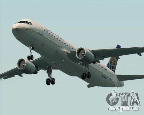 Airbus A320-232 United Airlines pour GTA San Andreas moteur