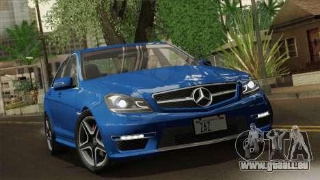 Mercedes-Benz C63 AMG Sedan 2012 für GTA San Andreas