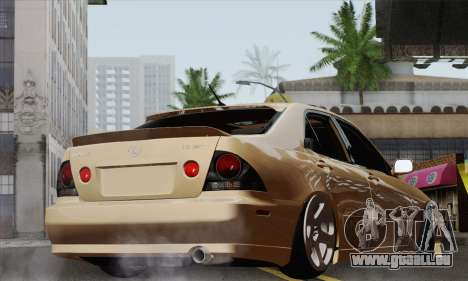 Lexus IS300 Hellaflush pour GTA San Andreas laissé vue