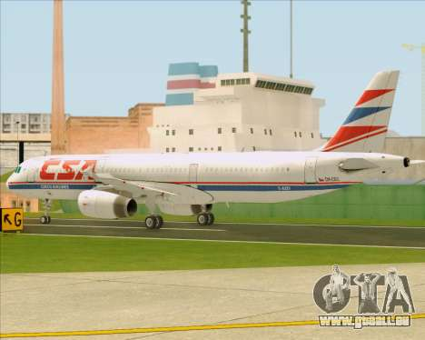 Airbus A321-200 CSA Czech Airlines für GTA San Andreas obere Ansicht