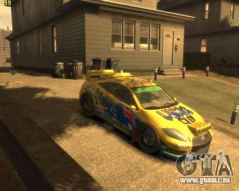 Mitsubishi Eclipse GT Rallycross pour GTA 4 Vue arrière de la gauche