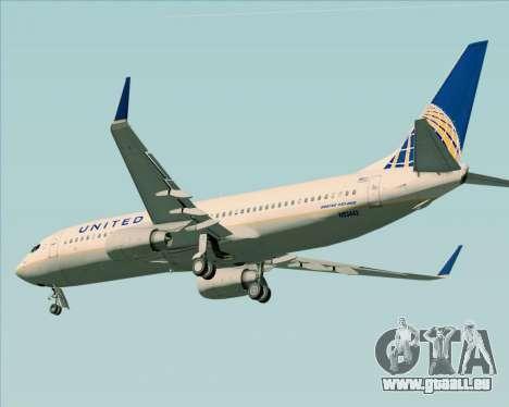 Boeing 737-824 United Airlines für GTA San Andreas Rückansicht