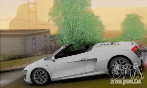 Audi R8 V10 Spyder 2014 pour GTA San Andreas laissé vue