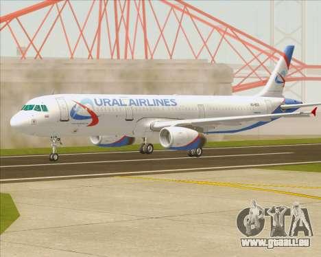 Airbus A321-200 Ural Airlines pour GTA San Andreas vue intérieure
