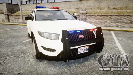 GTA V Vapid Interceptor LSS White [ELS] pour GTA 4
