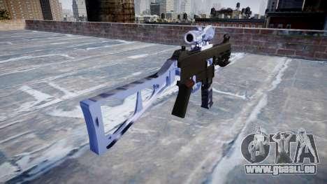 Gun UMP45 Blue Tiger für GTA 4 Sekunden Bildschirm