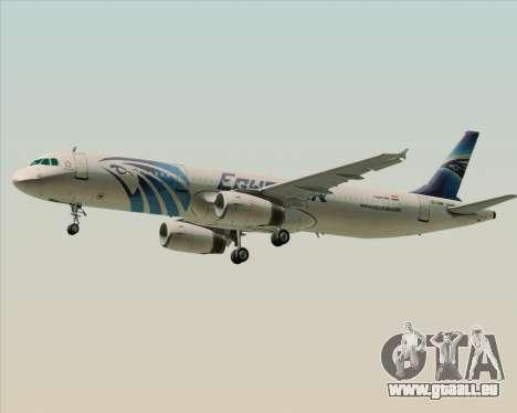 Airbus A321-200 EgyptAir für GTA San Andreas rechten Ansicht