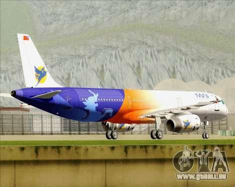Airbus A321-200 Myanmar Airways International für GTA San Andreas obere Ansicht