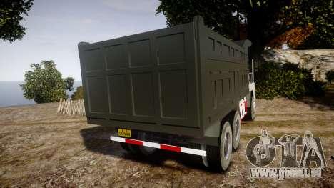 HOWO Truck für GTA 4 hinten links Ansicht