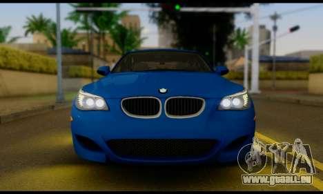 BMW M5 E60 2006 pour GTA San Andreas vue de droite