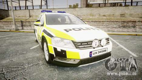 Volkswagen Passat 2014 Marked Norwegian Police für GTA 4