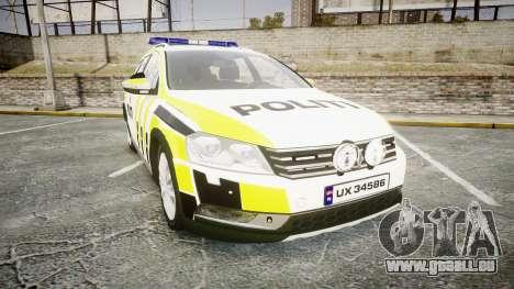 Volkswagen Passat 2014 Marked Norwegian Police für GTA 4