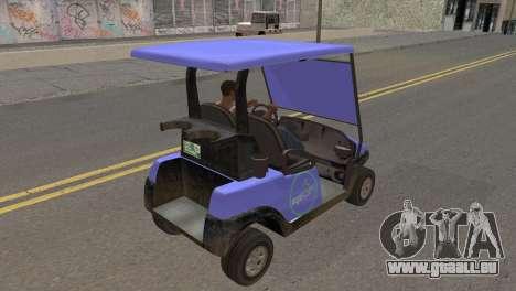 Caddy from GTA 5 pour GTA San Andreas sur la vue arrière gauche