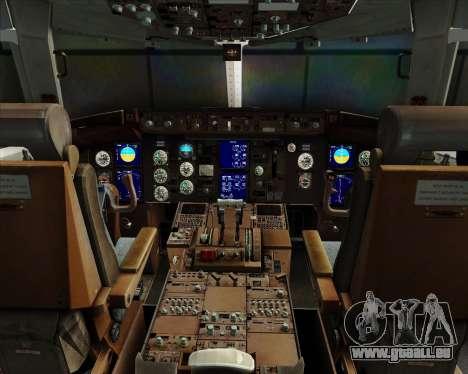 Boeing 767-330ER Condor für GTA San Andreas Innen