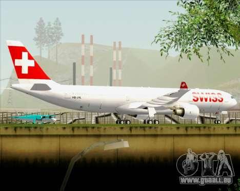 Airbus A330-300X Swiss International Air Lines pour GTA San Andreas vue de dessous