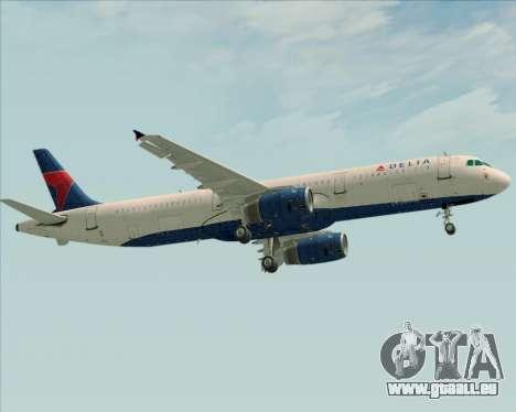 Airbus A321-200 Delta Air Lines für GTA San Andreas Rückansicht