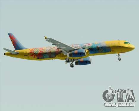 Airbus A321-200 pour GTA San Andreas sur la vue arrière gauche