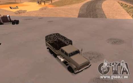 Caserne avec quatre portes pour GTA San Andreas vue arrière
