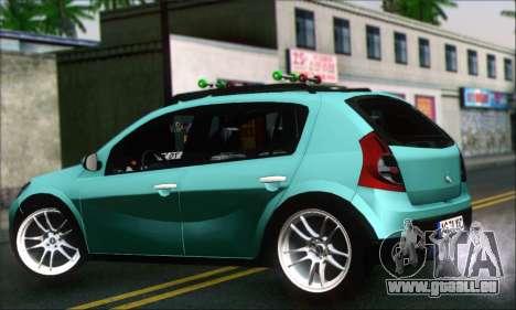 Dacia Sandero XIC pour GTA San Andreas laissé vue
