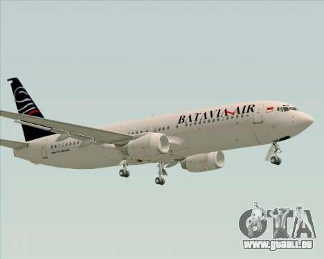 Boeing 737-800 Batavia Air für GTA San Andreas Unteransicht