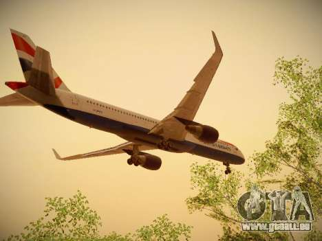 Boeing 757-236 British Airways für GTA San Andreas Innenansicht