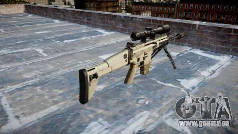 Fusil Mk 17 SCAR-H bipied pour GTA 4 secondes d'écran