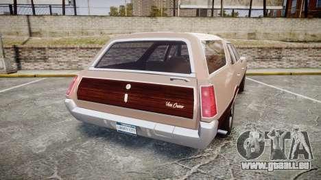 Oldsmobile Vista Cruiser 1972 Rims1 Tree4 pour GTA 4 Vue arrière de la gauche