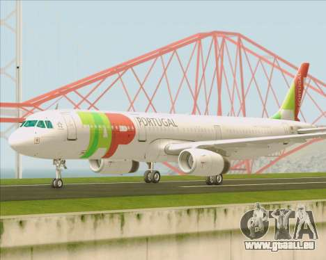Airbus A321-200 TAP Portugal pour GTA San Andreas vue intérieure
