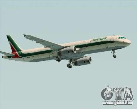Airbus A321-200 Alitalia für GTA San Andreas rechten Ansicht