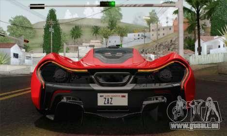 McLaren P1 HQ pour GTA San Andreas vue intérieure