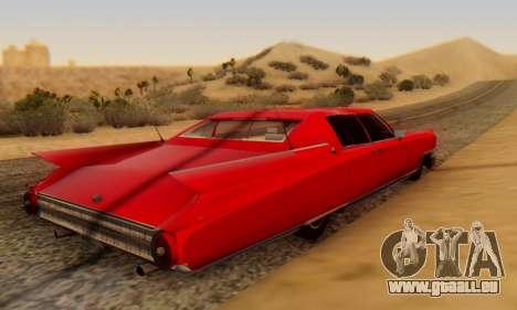 Cadillac Stella II pour GTA San Andreas sur la vue arrière gauche