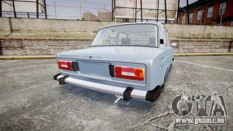 AIDE-2106 (Lada 2106) pour GTA 4 Vue arrière de la gauche