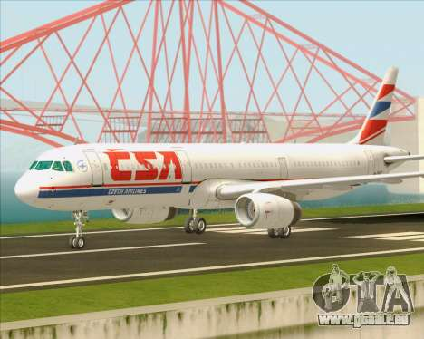 Airbus A321-200 CSA Czech Airlines für GTA San Andreas Innenansicht