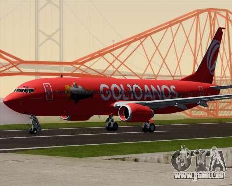 Boeing 737-800 Gol Transportes Aéreos für GTA San Andreas zurück linke Ansicht