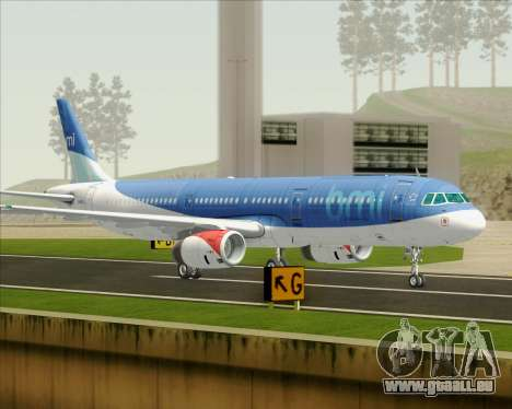 Airbus A321-200 British Midland International pour GTA San Andreas laissé vue