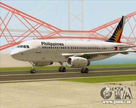 Airbus A319-112 Philippine Airlines für GTA San Andreas linke Ansicht