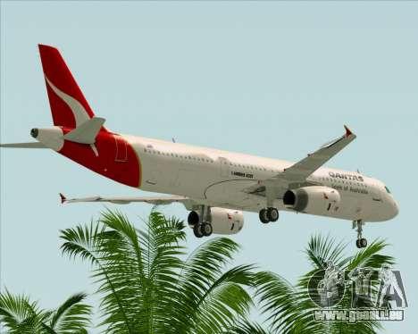 Airbus A321-200 Qantas für GTA San Andreas Unteransicht