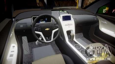 Chevrolet Volt 2011 v1.01 rims1 pour GTA 4 est une vue de l'intérieur