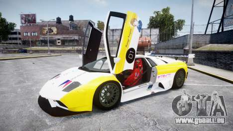 Lamborghini Murcielago GT1 Hanayo Koizumi pour GTA 4 est une vue de l'intérieur